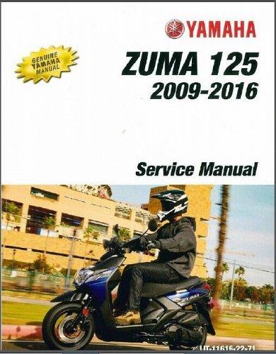 2009-2016 Yamaha Zuma 125 ( YW125 ) Scooter Service Manual on a CD