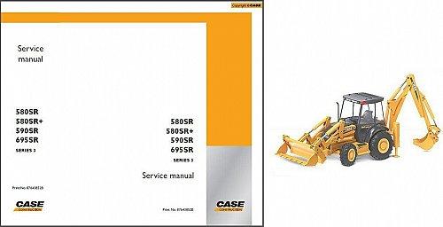 Case 580SR 580SR+ 590SR 695SR Series 3 Backhoe Tractor Service Repair Manual CD