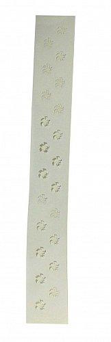"Checkerboard/Flower Border Stencil Set-14 Mil Mylar-3"" x 23.5 Painting/Crafts"