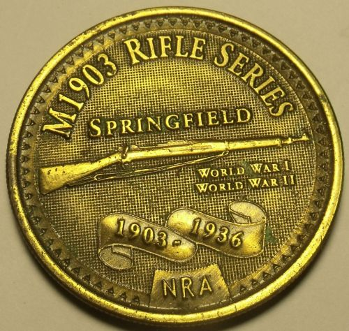 M1903 Springfield Bronze NRA Medallion~Free Shipping