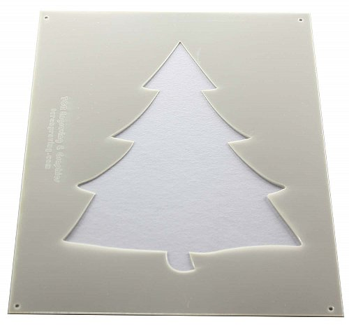 Christmas Tree Stencils- 4 Pc- 14 mil Mylar Painting/Crafts/Stencil/Template