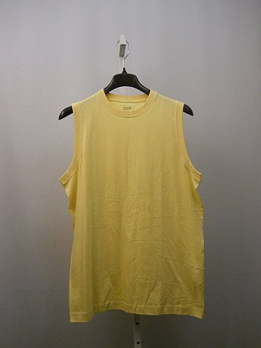 Mens Muscle T-Shirt SIZE L ROUNDTREE & YORKE Cotton Solid Yellow