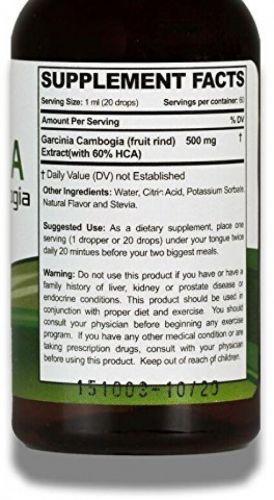 Ultra Garcinia Cambogia Drops - Fast Absorbing Liquid HCA Garcinia Drops - 100%