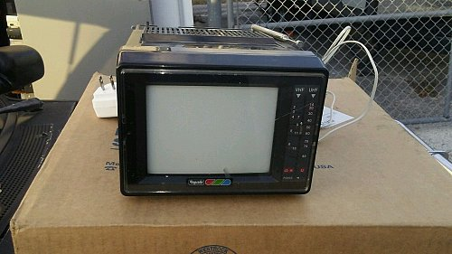 "Vintage Rhapsody TV-670 Portable 5"" Color TV"