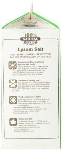 White Mountain Epsom Salt Magnesium Sulfate Soaking Solution, 3 Lb