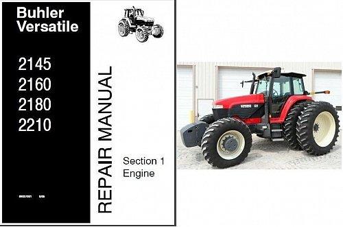 Buhler Versatile 2145 2160 2180 2210 Tractor Service Repair Manual CD