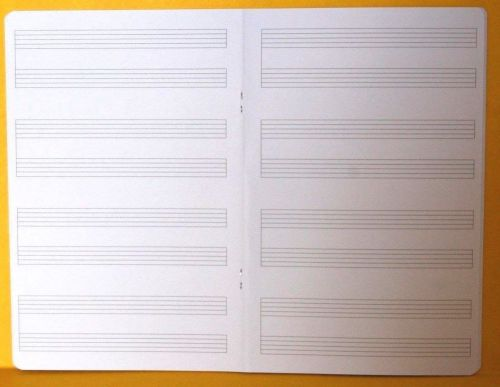"""EASYWRITE """" MUSIC STAVES """" A5 School Exercise / Practice Book """"TOP QUALITY"""""""