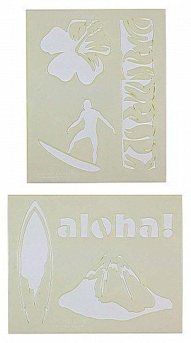 Hawaiian Stencils-2 pc Set-14 Mil Mylar- Painting/Crafts/Template