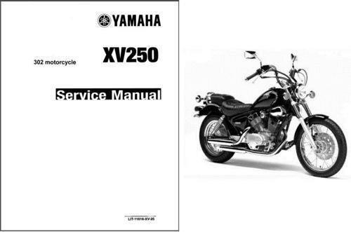 Yamaha virago xv250 v-star 250 motorcycle service manual