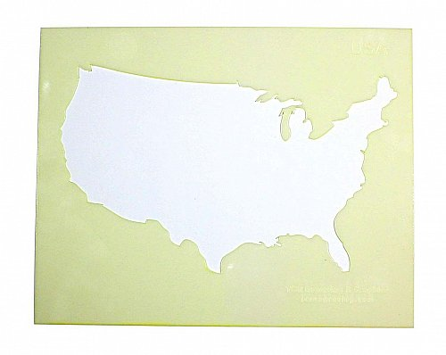 United States of America Stencil -14 mil Mylar Painting/Crafts