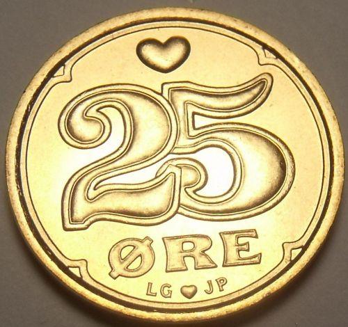 Denmark 1997 25 Ore Unc