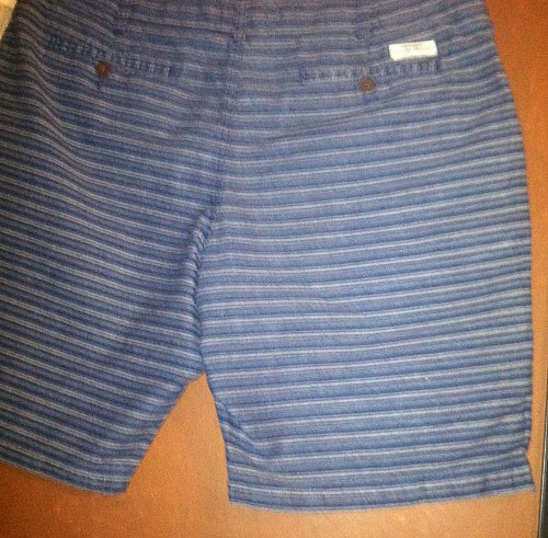 Men`s Shorts Size 40 Handcrafted Superior Quality Blue Striped NWT