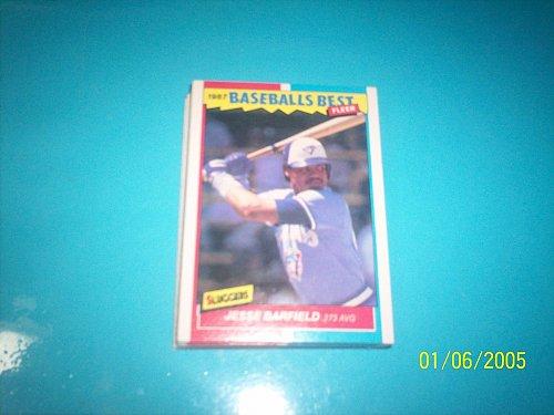 1987 Fleer Baseballs Best Sluggers Vs Pitchers JESSE BARFIELD #2 FREE SHIP