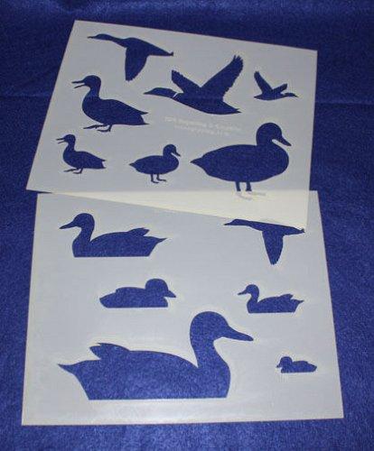 Duck Stencils - Painting/Crafts/Stencil/Template 2 Pc Set -Mylar 14 Mil