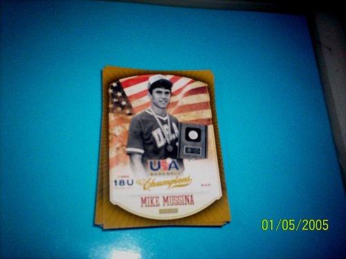 MIKE MUSSINA #13 2013 Panini USA Champions Gold Boarder Card FREE SHIP