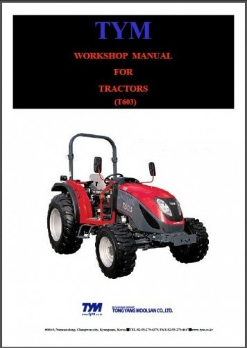 TYM T603 ( T 603 ) Tractor Service Manual on a CD