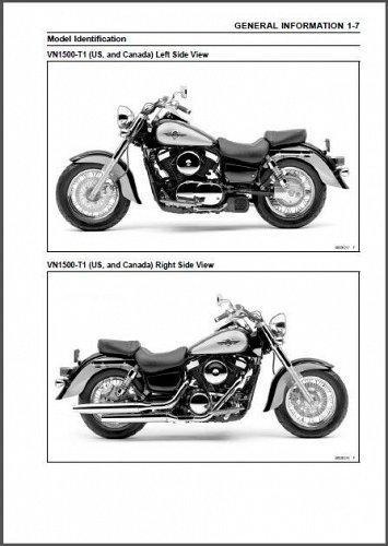 2000-2008 Kawasaki Vulcan 1500 / VN1500 Classic Fi Service Manual on a CD