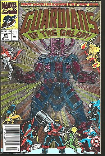 Guardians of the Galaxy #25 Foil Cover Galactus Marvel Comic VF+/NM+ High Grade