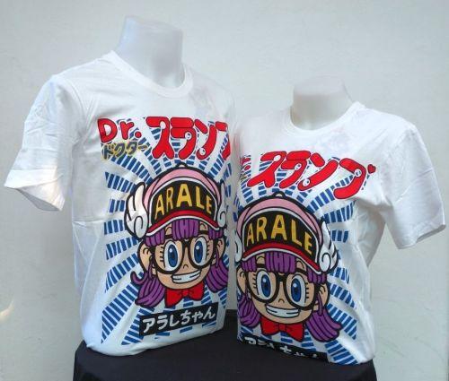 Dr.Slump White Cotton 100% T-Shirt Akira Tonyama,Shueisha, Toei Animation