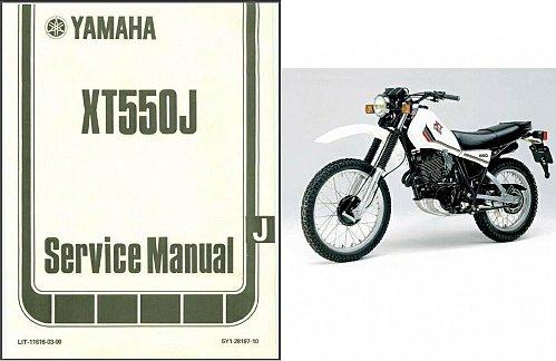1978-1984 Yamaha XT550 ( XT 550 J ) Service Manual on a CD