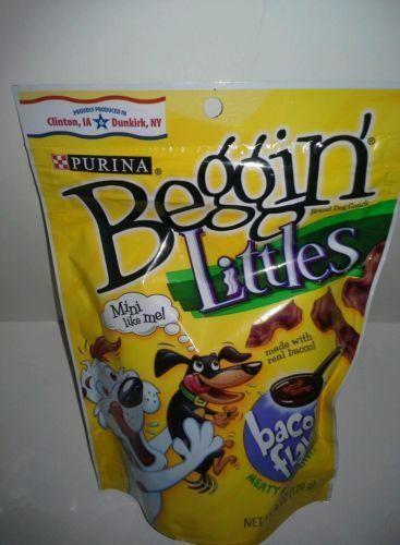 BRAND NEW BAG OF PURINA BEGGIN LITTLE STRIPS DOG TREATS (BACON)