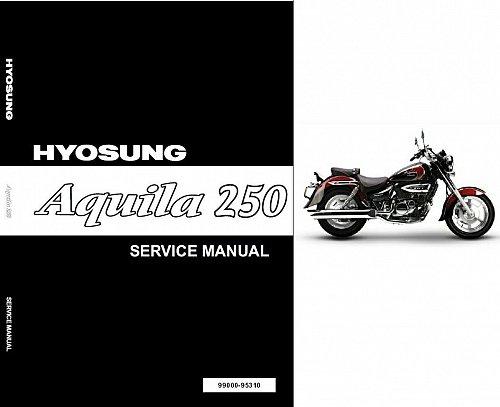 Hyosung Aquila 250 ( GV250 ) Service Manual CD - AlphaSports, S&T Motors Mirage