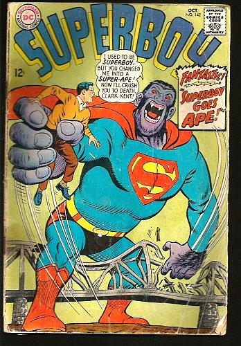 SUPERBOY #142 SUPER-APE DC COMICS 1967 Silver Age 1st Print