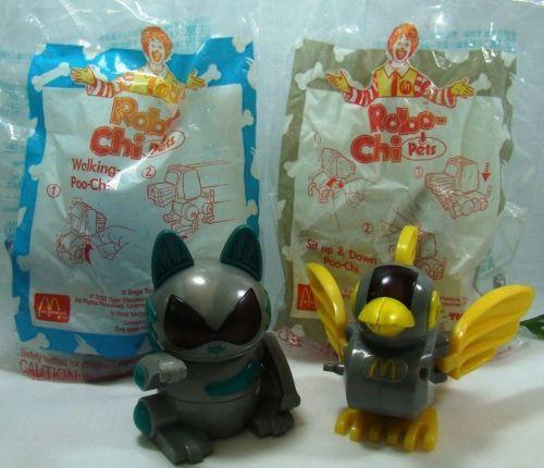 1SET 4 Style McDonald Collection Robochi Pet about set Rare,free shipping