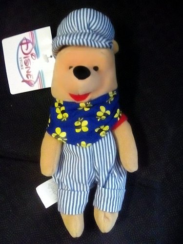 """Disney Winnie the Pooh Choo Choo Train Conductor 8"""" Mini Bean Bag Plush"""