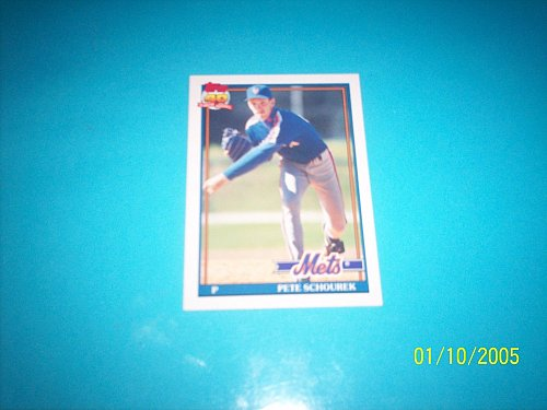 1991 Topps Traded card of pete schourer mets #106T mint free ship
