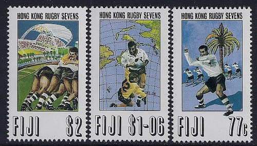 FIJI SET OF 3 1993 HONG KONG RUGBY SEVENS mi 679-682