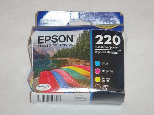 Epson T220 cyan blue red yellow Ink WorkForce WF2630 WF2650 WF2660 printer 220