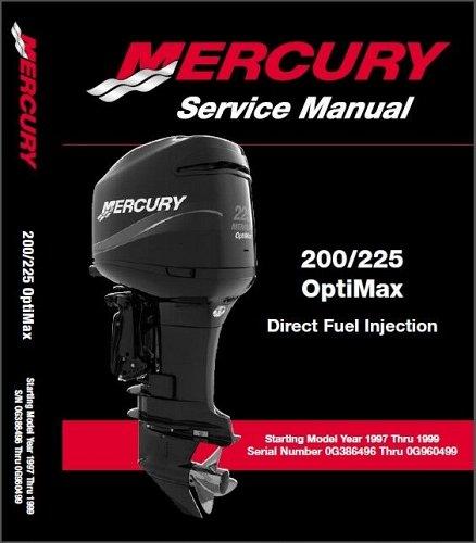 1997-1998-1999 Mercury 200 225 OptiMax DFI Outboards Service Manual CD