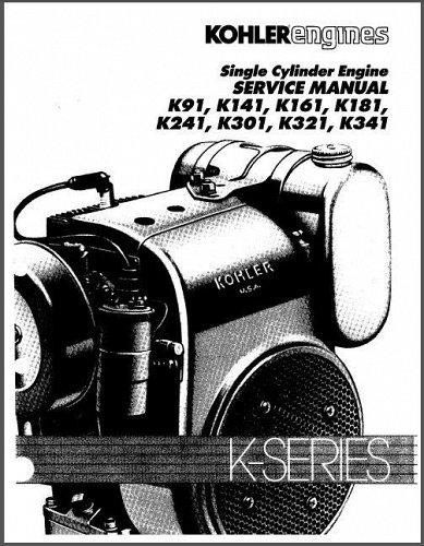 Kohler K-Series K91 - K341 Engines Service Repair Manual CD K141 K161 K181 K241