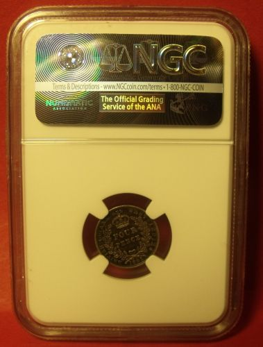 British Guiana & West Indies 1891 Silver 4 Pence NGC Certified MS-61~Free Ship