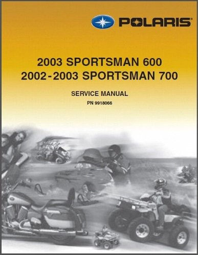 2002-2003 Polaris Sportsman 600 / Sportsman 700 ATV Service Manual on a CD