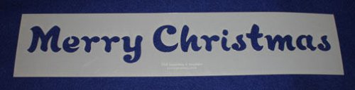"""Merry Christmas Message Stencil-14 Mil Mylar-5"""" x 23.5 Painting/Crafts/Stencil"""