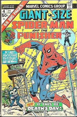 GIANT-SIZED SPIDER-MAN & the PUNISHER #4 Marvel Comics 1975 Ditko Dr. Strange+
