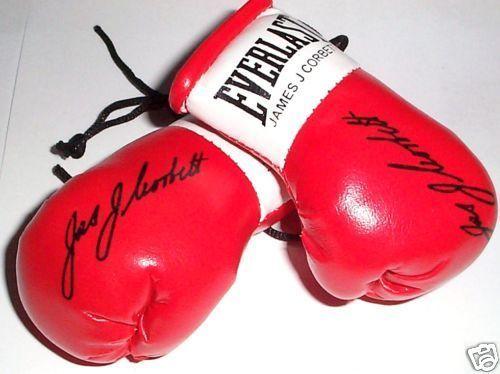 Autographed Mini Boxing Gloves James J Corbett