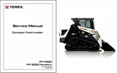 Terex PT-100G / Forestry Skid Steer Loader Service Repair Manual CD - PT100G