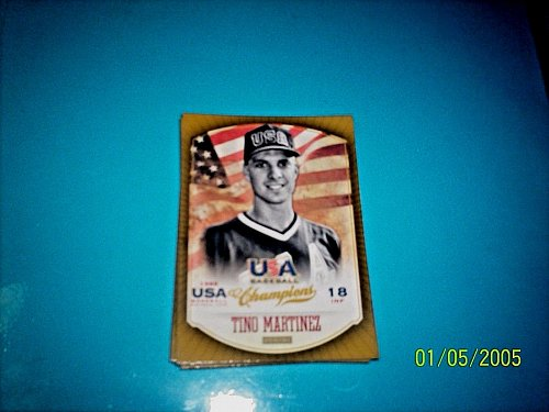 TINO MARTINEZ #19 2013 Panini USA Champions Gold Boarder Card FREE SHIP