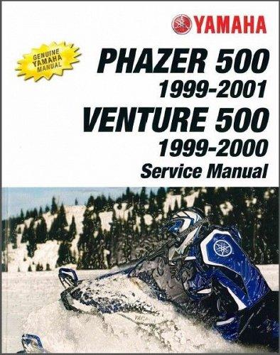 1999-2001 Yamaha Phazer PZ500C Venture VT500XLC Snowmobile Service Manual CD 500