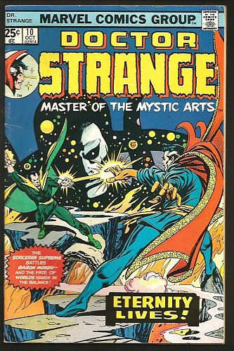 Dr. Strange #10 Len Wein Marvel Comics GENE COLAN 1975 Fine/+ ETERNITY