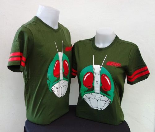 1 Masked rider *LICENSED *Original T-SHIRT Kamen Rider V3 Green NEW