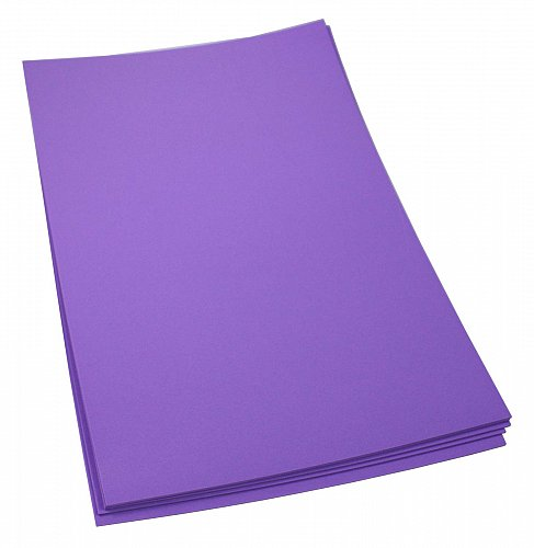Craft Foam Sheets--12 x 18 Inches -Purple- 5 Sheets-2 MM Thick