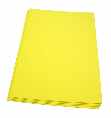 Craft Foam Sheets--12 x 18 Inches -Yellow- 5 Sheets-2 MM Thick