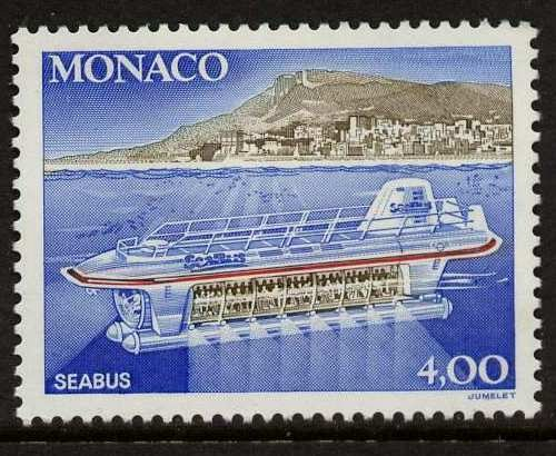 Monaco MNH 1v stamp Mi2097 Commissioning of the first tourist submarine 'Seabu