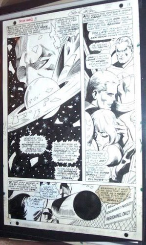 GENE COLAN Capt. Marvel 3 PG #14 ORIGINAL SilverAge COMIC ART signed GUARDIANS