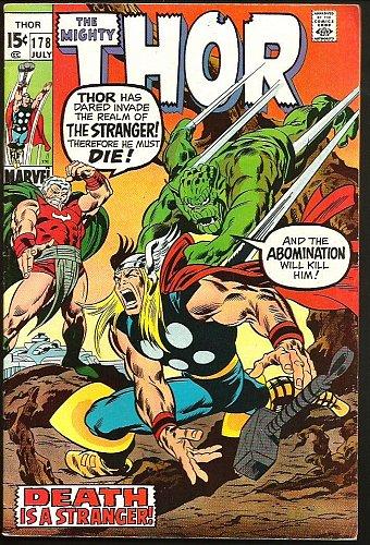 THOR #178 Abomination, STRANGER, Sif, Odin, by John Buscema Marvel Comics VF-