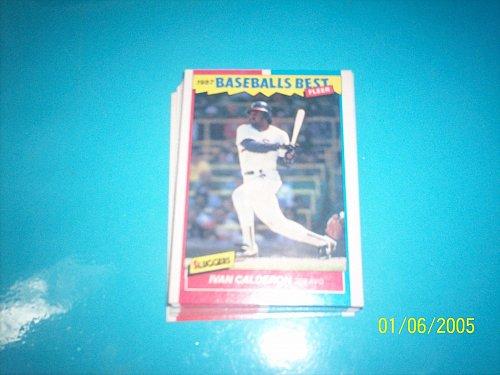 1987 Fleer Baseballs Best Sluggers Vs Pitchers IVAN CALDERON #7 FREE SHIP
